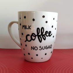 "Tazza ""milk coffee no sugar"""